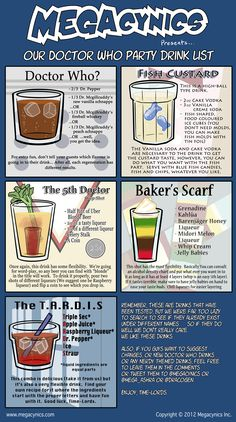 Doctor Who party drinks
