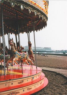 The Horse Merry Go Round Ride on Brighton Beach Brighton East Sussex England Brighton England, Brighton And Hove, Brighton City, Brighton Belle, England Uk, Brighton Photography, Merry Go Round Carousel, British Seaside, East Sussex