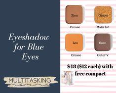 Eyeshadow For Blue Eyes, Blue Eye Makeup, Eyeshadow Looks, Simple Eyeshadow Tutorial, Eye Tutorial, Maskcara Makeup, Maskcara Beauty, Blue Green Eyes, Waterproof Mascara