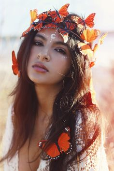 Monarch Fairy Crown Photoshoot with Noemi Corona by Wild & Free Jewelry
