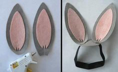 Lembrancinha: orelhas de coelhinho para Páscoa.