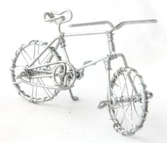Hand - crafted wire bicycle
