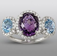 Zeghani Amethyst and Blue Topaz Ring...    $199.99