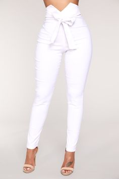 Knot Your Girl Pants - White