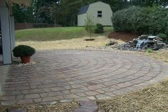 half circle could be cool patio