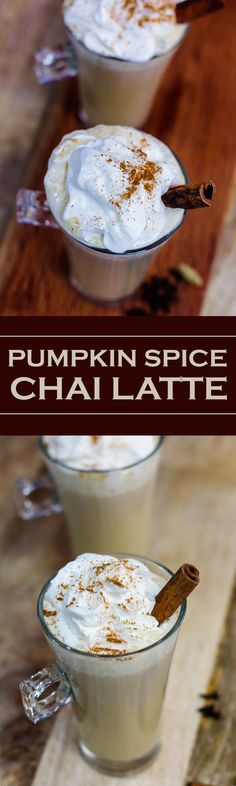 I am so so in love with this creamy and velvety Pumpkin Spice Chai Latte!