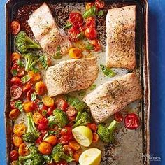 Don't be intimidated by cooking salmon at home. This simple sheet pan recipe makes it easy--and prepares a vegetable side dish at the same time!