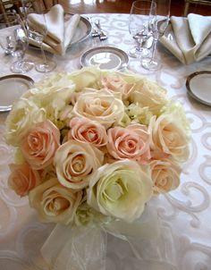 Pale pink rose arrangement