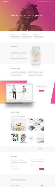 Composition No. 3 - Creative Multipurpose PSD Template by viworx-co