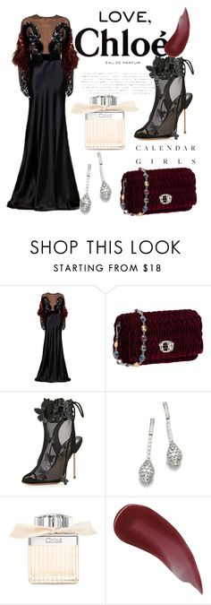 """""""Red Wedding"""" by yixingunicorn ❤ liked on Polyvore featuring Gucci, Miu Miu, Sophia Webster, Chloé, Kerr® and Charlotte Tilbury"""