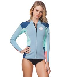 a75bc512dbb Rip Curl Women s 1.5mm Dawn Patrol Front Zip Wetsuit Jacket at SwimOutlet. com - Free Shipping