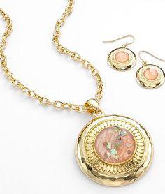 Cute earrings. Croft & Barrow Pendant & Drop Earring Set