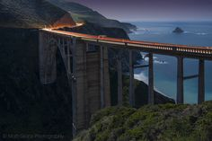 The Bixby Bridge by Moonlight (via #spinpicks)