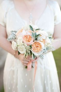 These flowers! Navy Blue and Peach Perfection for a Royal Lace, Queens House Wedding...