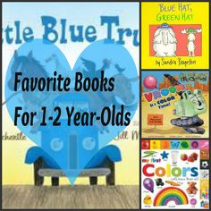 Board books for one to two year-olds! These are some of our favorites.