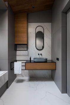 its-my-living: Minimalist Bathroom Inspiration Washroom Design, Bathroom Interior Design, Modern Interior Design, Modern Toilet Design, Vanity Design, Studio Interior, Modern Interiors, Interior Paint, Luxury Interior