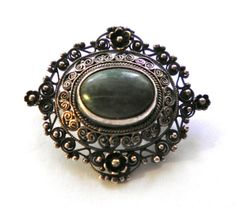 Antique PERUZZI Sterling Brooch Pin c1900 Florence by JoolsForYou