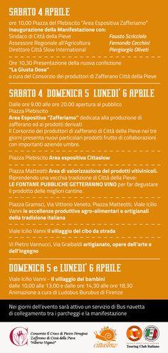 Programma delle attività della Mostra #Mercato di #Pasqua a Città della Pieve