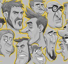 Diseño de personajes: Bocetos. Cap.1