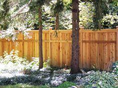 Custom cedar wood privacy fence - 6' high