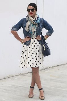 Mixing up patterns in a pre-spring look