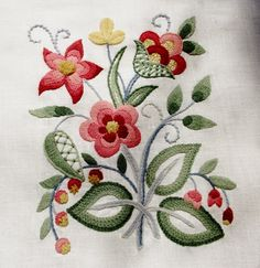 jacobean crewelwork design blue and white - Google Search