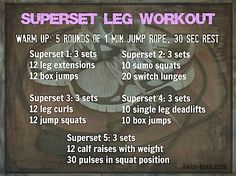 Superset Leg Workout. Linzo loves her some leg supersets!!!
