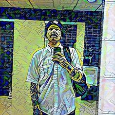 Work #mirror #selfie through #deepdream.  Can you tell I'm #bored?  #narcissist #vain #666 #jerk #turd #ohhai by dirtyarms