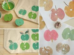 Wonderfull in it's simplicity - stamping beautifull shapes with food you might allready have at home!