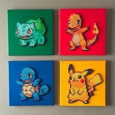 Pokemon First Generation Starter Perler by ThePerlerSpriteShop