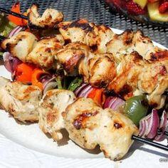Buttermilk Ranch Chicken Kebabs | #glutenfree | buttermilk, ranch dressing mix, chicken breast,