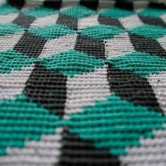 #crochet inspiration Optical crochet, pattern by Molla Mills.