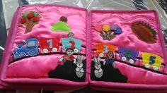 Hand crafted baby quiet book -for Sara - Made by Darina Scepkova......... Rucne robena detska knizka pre Sarinku