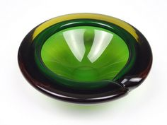 Archimede Seguso sommerso yellow & green glass bowl by art-of-glass, via Flickr