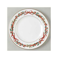 Christmas China Patterns You'll Love for Your Southern Home: Royal Worcester 'Holly Ribbons'