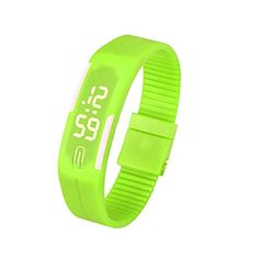 KOOZIMO Mens Womens Rubber LED Watch Date Sports Bracelet Digital Wrist Watch * Click image to review more details.
