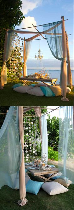 Gorgeous ocean setting for the groom and bride