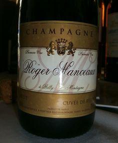 Roger Manceaux Cuvée de Resèrve: outro Champagne evoluído, com aroma eterno, fantástico.