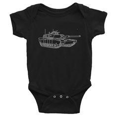 Military Tank Infant Bodysuit Onesie by reddogsapparel on Etsy  Military Tank Infant Bodysuit Onesie by reddogsapparel  http://etsy.me/2CnvZCs via @Etsy #etsy #baby #onesie #tank