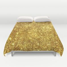 Gold Sparkly Texture Duvet Cover
