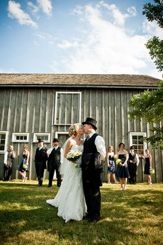 A vintage #wedding at the Markham Museum in Ontario, Canada.