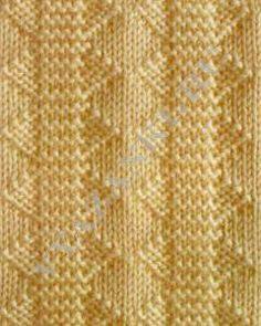 Узор №100 Knit Purl Stitches, Knitting Stiches, Knitting Charts, Lace Knitting, Knitting Patterns, Knitting Designs, Stitch Patterns, Crochet Patterns, Wire Crochet