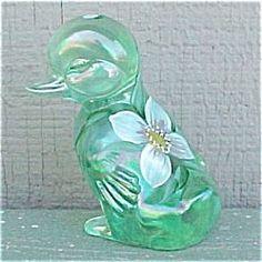 Fenton Art Glass Duckling