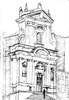 A Quick Sketch Of An Attractive House Front In Wigton Cumbria | ART SKETCHES DRAWINGS With ...