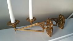 Just picked up a pair of antique piano candle sconces.