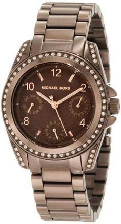 Michael Kors Watch Women's Chronograph Blair Espresso Stainless Steel MK5614