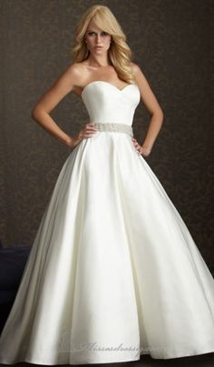 satin wedding dress I would love this for the bottom! :)