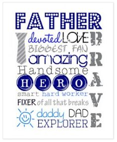 FREE Father's Day Subway Art Printable
