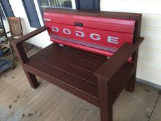 Dodge Tailgate bench  handyhinch.com  Facebook.com/handyhinch
