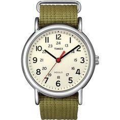 Timex - Weekender Wristwatch - White/silver/green, T2N651JV